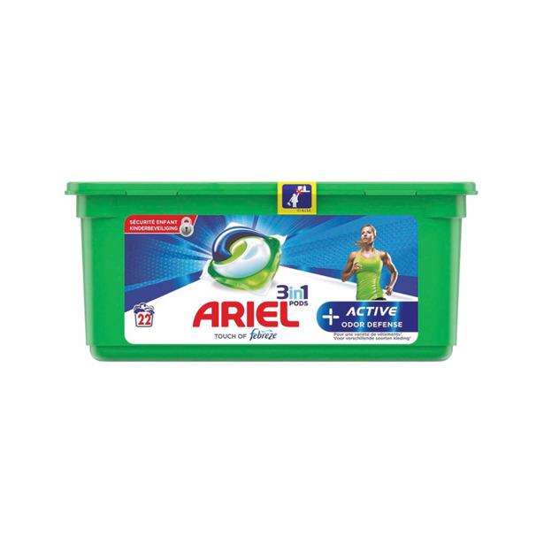 Ariel 3 in 1 Pods +Active Odor Defense