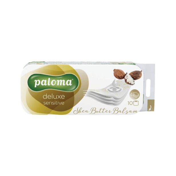 Paloma Toiletpapier Deluxe Car Shea Butter Balsem 4 lagen