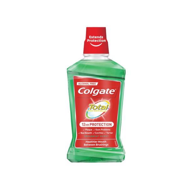 Colgate Mondspoeling Plax Total Spearmint Burst