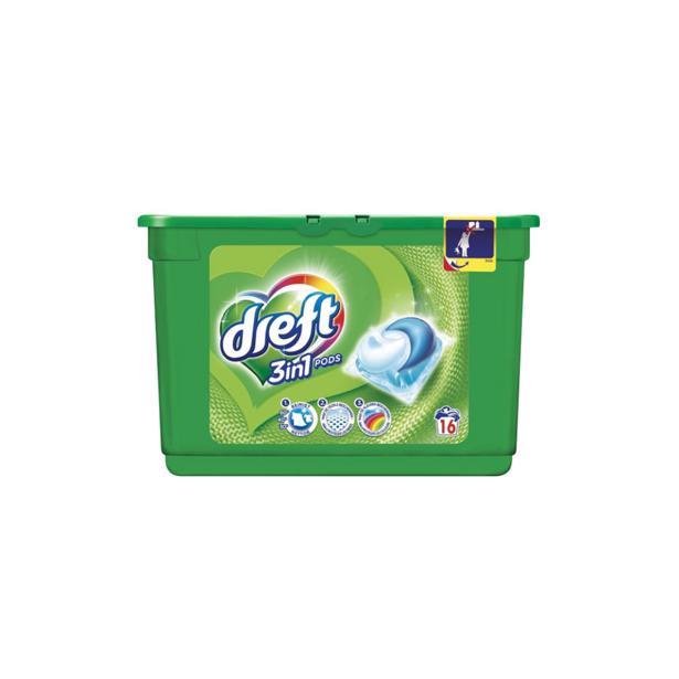 Dreft 3 in 1 pods voordeelverpakking 48 wasbeurten