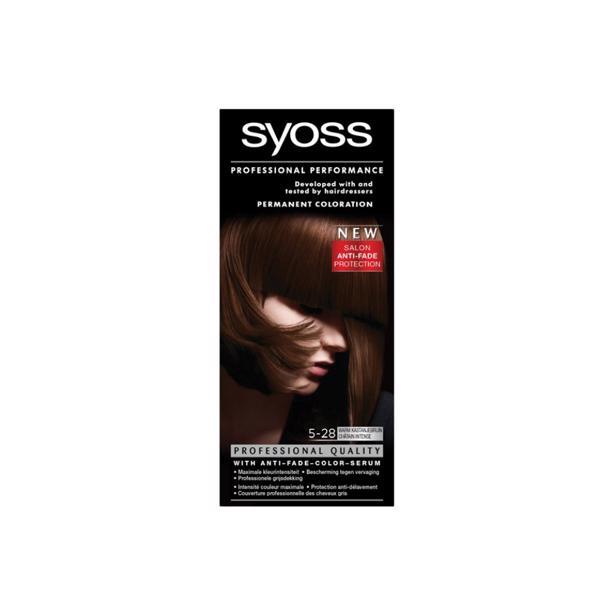 Syoss Warm Kastanjebruin Professional Performance 5-28 voordeelverpakking