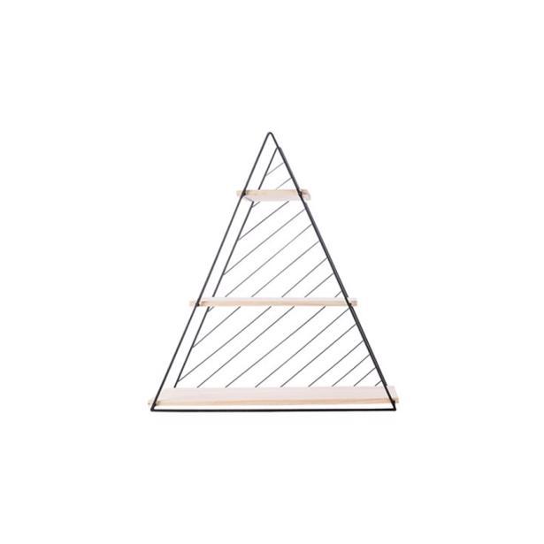Cosy & Trendy Decorek Triangle Black 47 x 13,5 x h 50 cm