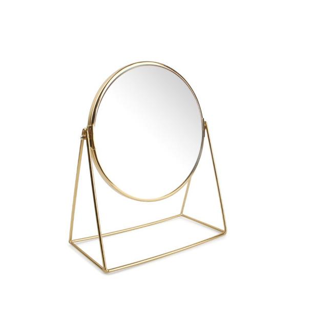 Salt & Pepper Tafelspiegel 25x12xH30cm 2-zijdig goud Beauté