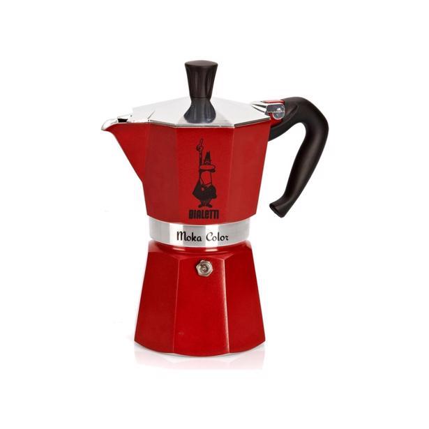 Bialetti Mokka Express Espresso Maker Rood 3 Tassen