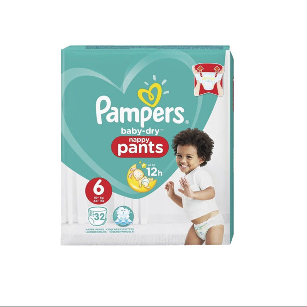 Pampers Baby Dry Nappy Pants 6
