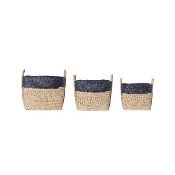 Cosy & Trendy Set van 3 Rieten Manden Vierkant