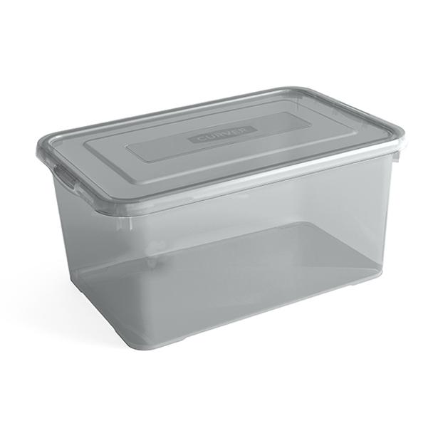 Curver Handy Box 50L - 60x40xh28cm - Smokey Grey