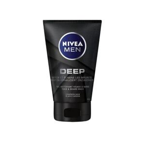 Nivea Men Deep Face & Beard Wash Black Carbon 4005900495556