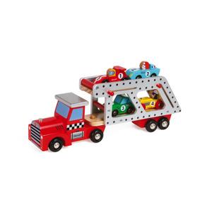 Janod Autotransporter Story met 4 auto's 3700217385729