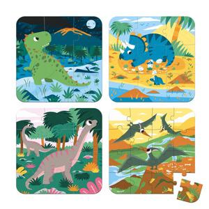 Janod Puzzel - 4 puzzels Dinosaurus 3700217326579