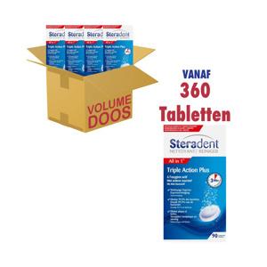 Steradent Reinigingstabletten Kunstgebit Triple Action Plus 3059946240633