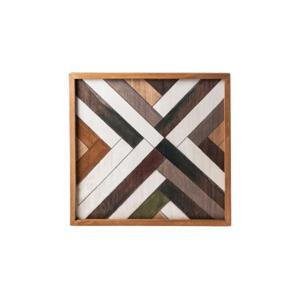 Cosy & Trendy Dienblad Vierkant Houtmotief 35,6 x 35,6 x h 3 cm 5400586183770