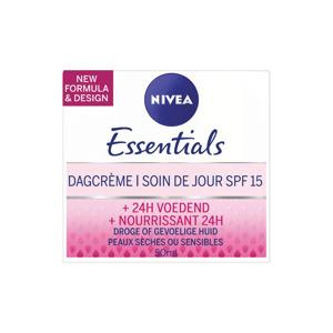 Nivea Essentials Dagcrème Hydraterend SPF15 voor Droge en Gevoelige Huid 4005900402288