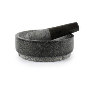 Salt & Pepper Vijzel 18xH6cm en stamper grijs graniet Grind 5410595662029