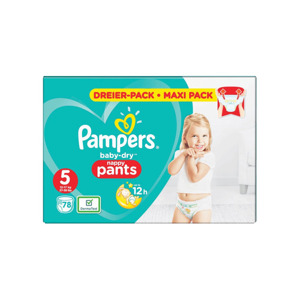Pampers Baby Dry Nappy Pants 5 (78 stuks) 8001090967909