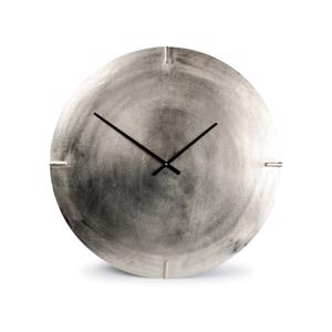 Salt & Pepper Wandklok 74cm Round Metal Silver Colour Zone 825013