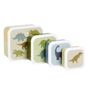 A Little Lovely Company Lunch & Snack Box Set Dinosaurs 8719715001197