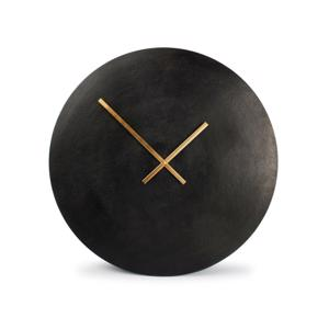 Salt & Pepper Wandklok 75cm Round Metal Black Zone 825021