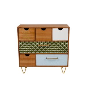 Cosy & Trendy Ladenkast Naturel/Groen/Wit 5400586096278