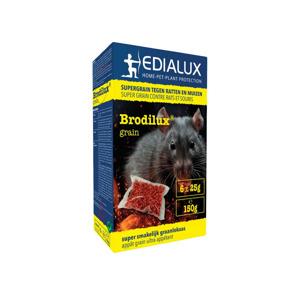 Edialux Brodilux Muizen en Rattenvergif Graan 150 gr., 6x25 gr.  5412037065474