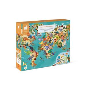 Janod Educatieve Puzzel Dinosaurus (200 stukjes) 3700217326791