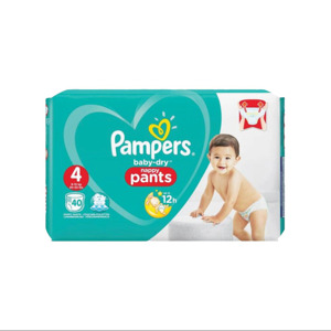 Pampers Baby Dry Nappy Pants 4 (80 stuks) 4015400749646