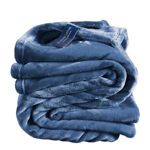 De Witte Lietaer Plaid Cosy Blue Indigo 5410156591058