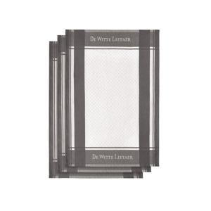 De Witte Lietaer Set van 3 keukenhanddoeken White-Plum Kitten 3/50x70 cm 5410156589543