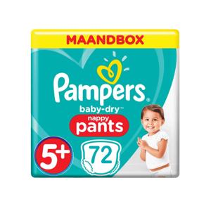 Pampers Baby Dry Nappy Pants 5+ (72 stuks) 8001841072463
