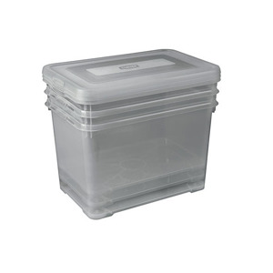 Curver Handy Box 35L - set van 3 - 49x40x25cm - Smokey Grey 3253921875012