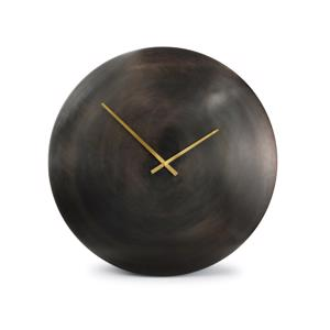 Salt & Pepper Wandklok 76cm Round Metal Black Zone 825028