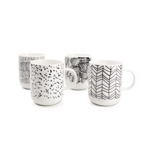 Salt & Pepper Mug Black Scetch Barista (set van 4) 9319882471633