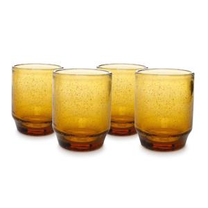 Salt & Pepper Glas 34cl Amber Drip (set van 4) 5410595710904