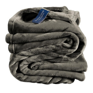 De Witte Lietaer Plaid Cosy Steeple Grey 5410156525602