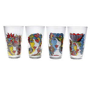 Josien Broeren Glas 32cl - set van 4 5410595586936