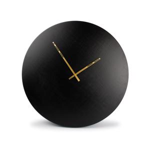 Salt & Pepper Wandklok 76cm Round Metal Black Zone 825001