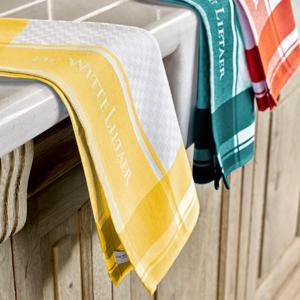 De Witte Lietaer Set van 6 Keuken Handdoeken 50x70cm (white-mango/sunshine/ponderosa) GEEN EAN CODE