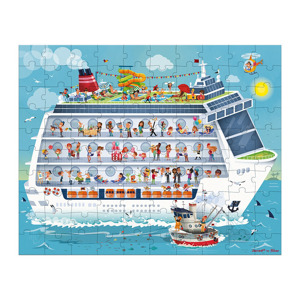 Janod Dubbele Puzzel Cruiseschip (100 & 200 stukjes) 3700217327262